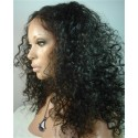 Indian remy - front lace wigs - deep curl - op voorraad