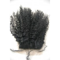 12 t/m 18 inch Indian remy  - top/lace closures - afro kinky (kinky curl) - haarkleur 1 - direct leverbaar