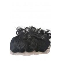 12 t/m 18 inch Indian remy  - lace frontals - wavy - haarkleur 1 - direct leverbaar