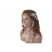 14 bis 24 inch Indische remy - front lace perücken - wavy - haarfarbe 3 - sofort erhältlich