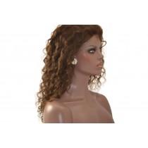 14 bis 24 inch Indische remy - front lace perücken - curly - haarfarbe 3 - sofort erhältlich