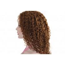 14 bis 24 inch Indische remy - front lace perücken - curly - haarfarbe 4 - sofort erhältlich