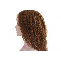 Indische remy - front lace perücken - water curl - an lager