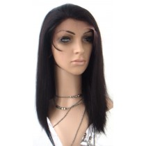 Silky straight - front lace wigs - custom made