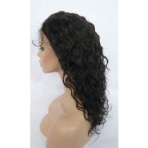 14 bis 24 inch Indische remy - front lace perücken - curly - haarfarbe 2 - sofort erhältlich