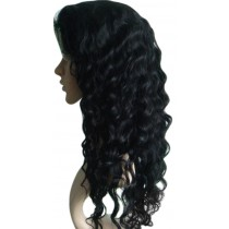 Indische remy - front lace perücken - deep wave - an lager