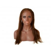 14 bis 24 inch Indische remy - front lace perücken - straight - haarfarbe 4 - sofort erhältlich