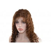 14 bis 24 inch Indische remy - front lace perücken - wavy - haarfarbe 4 - sofort erhältlich