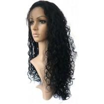 14 bis 24 inch Indische remy - front lace perücken - curly - haarfarbe 1 - sofort erhältlich