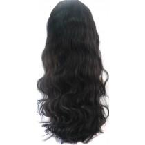 14 bis 24 inch Indische remy - front lace perücken - wavy - haarfarbe 1B - sofort erhältlich