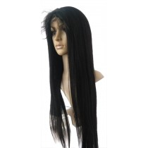 14 t/m 24 inch Indian remy  - front lace wigs - straight - haarkleur 1 - direct leverbaar
