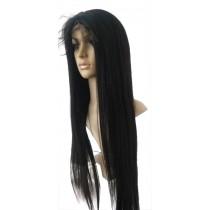 14 bis 24 inch Indische remy - front lace perücken - straight - haarfarbe 1 - sofort erhältlich