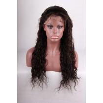 14 bis 24 inch Indische remy - front lace perücken - wavy - haarfarbe 2 - sofort erhältlich