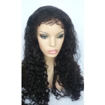14 bis 24 inch Indische remy - front lace perücken - curly - haarfarbe 1B - sofort erhältlich