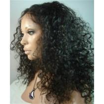 Deep curl - synthetische front lace wigs - maatwerk
