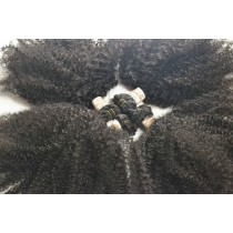 10 t/m 24 inch - Peruaans haar - afro kinky (kinky curl) - natuurlijke kleur - direct leverbaar