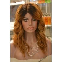 Handgemaakte pruik 5 - straight - haarkleur goudblond - exclusief - direct leverbaar