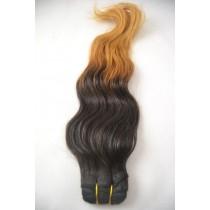 10 t/m 24 inch - Braziliaans haar - wavy - natuurlijke haarkleur & goudblond - exclusief - op voorraad
