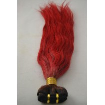 10 t/m 24 inch - Braziliaans haar - straight - haarkleur vuurrood - exclusief - op voorraad