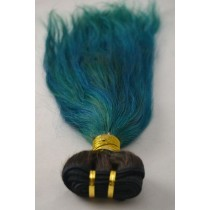 10 until 24 inch - Peruvian hair - straight - hair color turquoise- exclusive - in stock