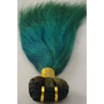 10 until 24 inch - Peruvian hair - straight - hair color alpine green- exclusive - in stock