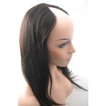 16 inch Brasilianische virgin - U-part front lace perücken - straight - natürliche haarfarbe - sofort erhältlich