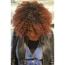 Handgemaakte pruik 6 - afro kinky (kinky curl) - exclusief - maatwerk
