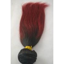 10 t/m 24 inch - Braziliaans haar - straight - haarkleur zacht rood - exclusief - op voorraad