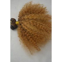 10 t/m 24 inch - Peruaans haar - afro kinky (kinky curl) - haarkleur goudblond - exclusief - op voorraad