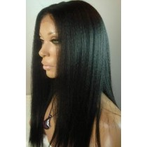 Kinky straight - front lace wigs - custom made