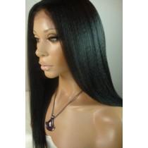 Kinky straight - synthetische front lace wigs - maatwerk