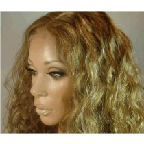 Indische remy - front lace perücken - loose curl - an lager