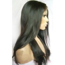 14 bis 24 inch Indische remy - front lace perücken - straight - haarfarbe 1B - sofort erhältlich